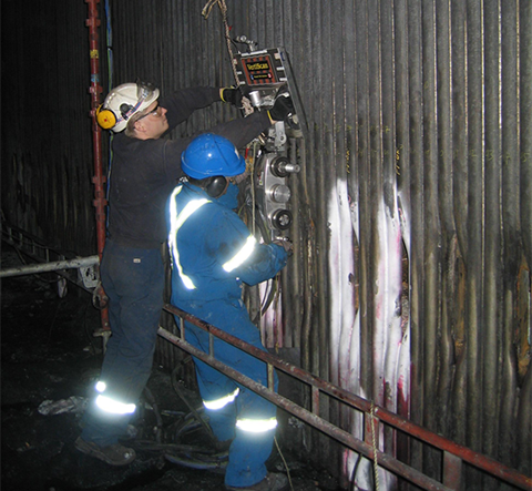 Russell NDE - Boiler Water Wall Tubes Inspection Services